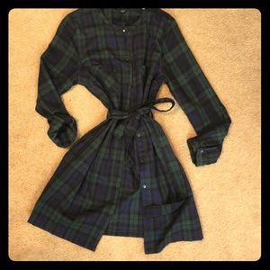 Flannel dress!
